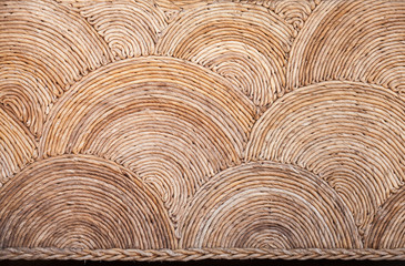 Obraz Round natural wicker ornament background texture - fototapety do salonu