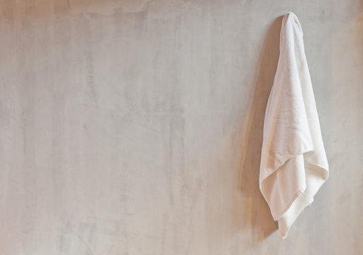 Hanging White Towel