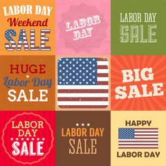 Labor day sale sign. Vector illustration