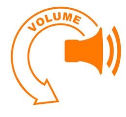 volume flèche orange