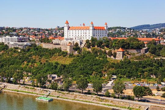 Medieval castle on the hill against the sky, Bratislava