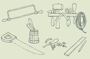 Vector illustration.  Different Tools