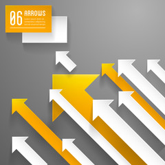 arrows background - paper graphic design template