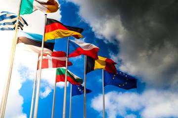 European flags Wall mural