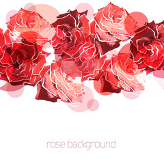 Canvas Prints Abstract Floral Rose background. Floral abstract pattern