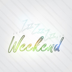 Weekend Typography