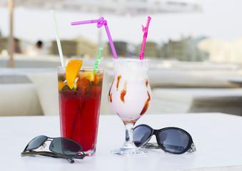 Coktails in the open air café