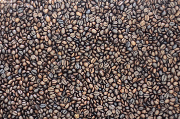 Closeup coffee beans for background