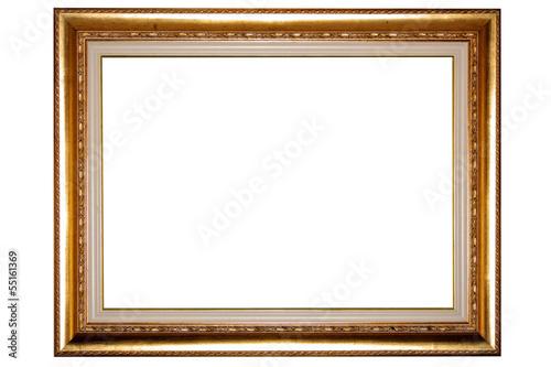 Cornice di quadro antico su sfondo bianco immagini e for Cornice per quadro