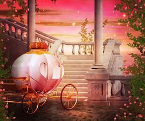 Carriage Castle Fantasy Backdrop