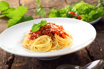 Italian pasta with bolognese sauce