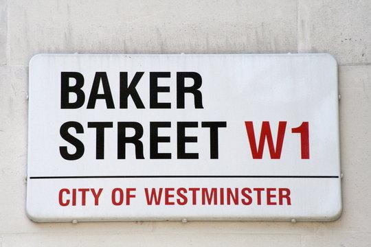 Baker Street famous london street sign