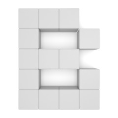 letter B cubic white