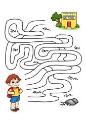 gioco labirinto, scuola