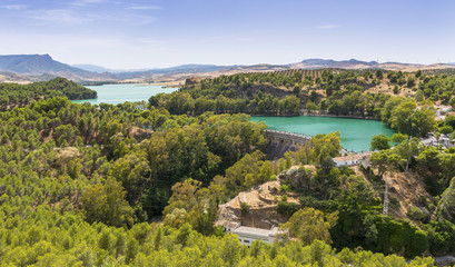 Ardales Reservoir, Malaga Province, Andalusia, Spain