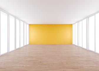 empty room , orange wall