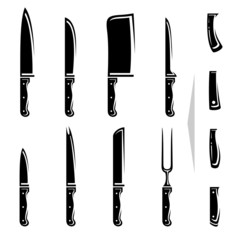 Knife set. Vector