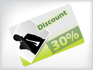 Photo discount gift card design