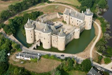 Château de Suscinio vue du ciel