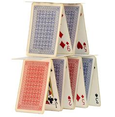 Poker cards castle