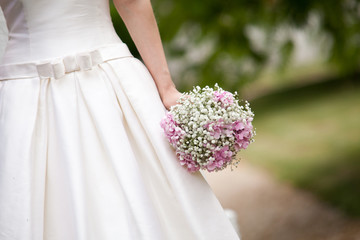 Bride with a bouquet.