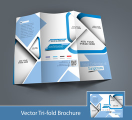 Vector Optician Sunglasses Store Brochure Design Template