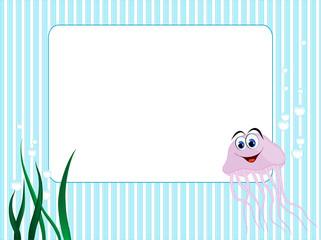 Blue stripped frame