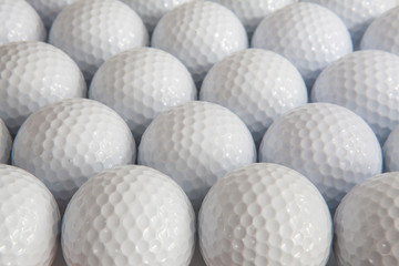 Zelfklevend Fotobehang Golf White golf balls