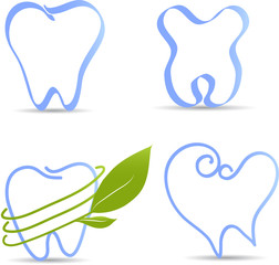 Simple tooth illustration collection