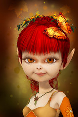 Poster Fées, elfes Sweet little elf