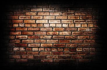 Grunge textured brick wall.