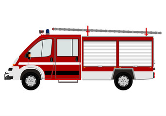 Modern fire engine