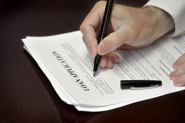 Signing Loan Application