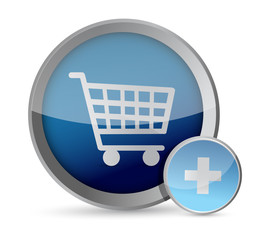 shopping cart button illustration
