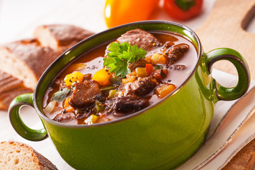 Tasty rich meaty stew