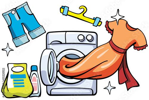 clean wash laundromat