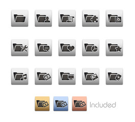 Folder Icons_Vector includes 4 color versions= Layers