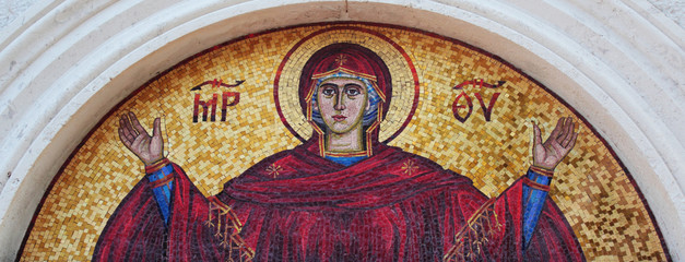 art mosaics icon of Virgin Mary