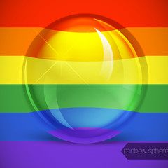 Rainbow sphere. Vector illustration.