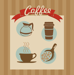 Coffee label set poster