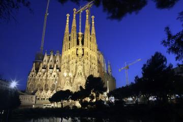Sagrada Familia at night, dream of Gaudi.