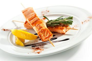 Skewered Salmon