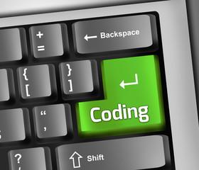 "Keyboard Illustration ""Coding"""