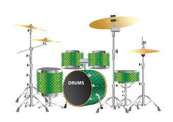 drums kits vector images