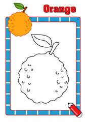 colora la frutta, arancia