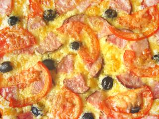 tasty appetizing pizza