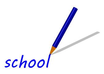 Mavi gölgeli  boya kalemi