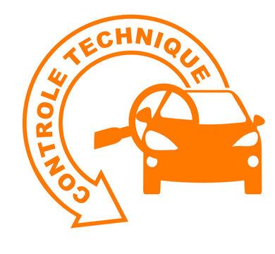 contrôle technique flèche orange