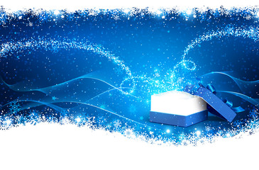 Wall Mural - Magic Christmas Box