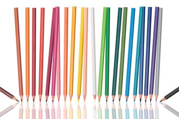 dancing colour pencils